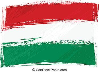 Grunge Hungary flag - Hungary national flag created in...