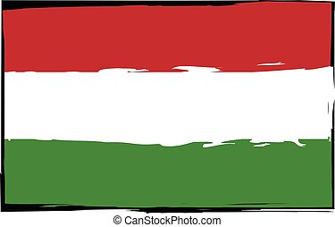 Grunge HUNGARY flag or banner vector illustration