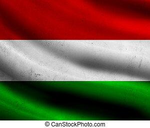 Grunge Hungary flag