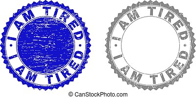 Grunge I AM TIRED Textured Stamp Seals - Grunge I AM TIRED...