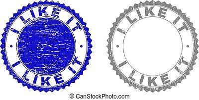 Grunge I LIKE IT Scratched Stamps - Grunge I LIKE IT stamp ...