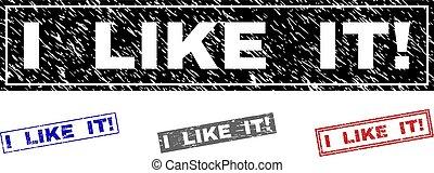 Grunge I LIKE IT! Textured Rectangle Watermarks - Grunge I ...