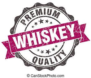 grunge, ibolya, elszigetelt, whisky, fóka, fehér