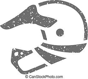 Grunge icon - Baseball helmet