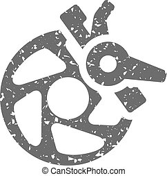 Grunge icon - Bicycle brake - Bicycle brake icon in grunge...
