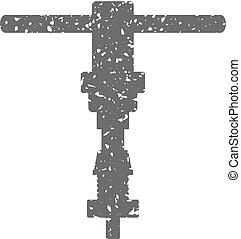 Grunge icon - Bicycle repair tool