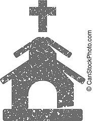 Grunge icon - Church - Church icon in grunge texture....