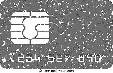 Grunge icon - Credit card