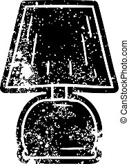 grunge icon drawing of a bed side lamp