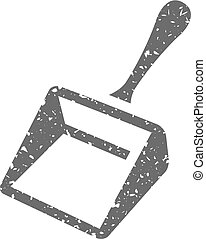 Grunge icon - Dustpan - Dustpan icon in grunge texture....