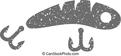 Grunge icon - Fishing lure