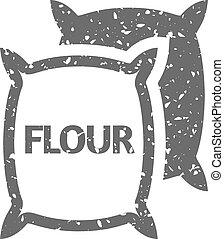 Grunge icon - Flour sack