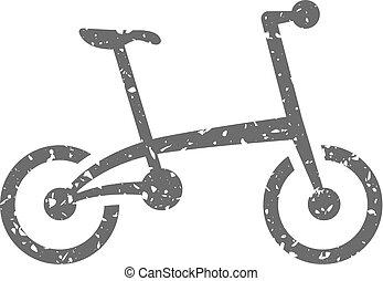 Grunge icon - Folding bicycle