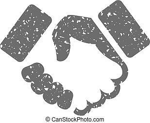 Grunge icon - Handshake