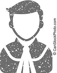 Grunge icon - Judge avatar