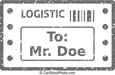 Grunge icon - Logistic receipt - Logistic receipt icon in...