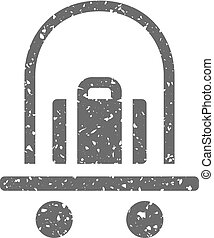 Grunge icon - Logistic trolley - Logistic trolley icon in...