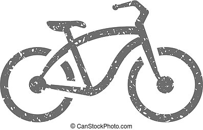 Grunge icon - Low rider bicycle - Low rider bicycle icon in ...