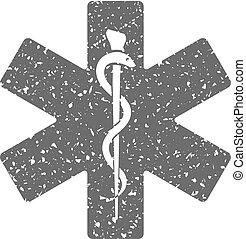 Grunge icon - Medical symbol