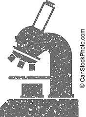 Grunge icon - Microscope