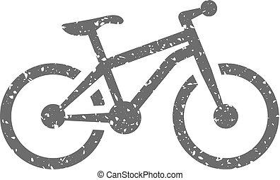 Grunge icon - Mountain bike - Mountain bike icon in grunge...