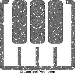 Grunge icon - Piano  keys