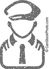 Grunge icon - PIlot avatar