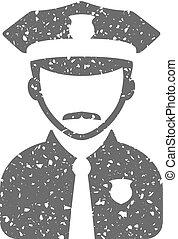 Grunge icon - Police avatar