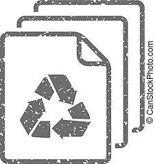 Grunge icon - Recycle symbol paper