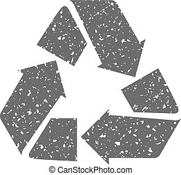 Grunge icon - Recycle symbol