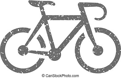 Grunge icon - Road bicycle