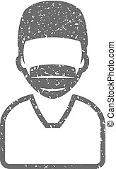 Grunge icon - Surgeon