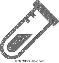 Grunge icon - Test tube