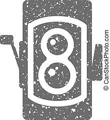 Grunge icon - TLR camera - Twin lens reflex camera icon in ...