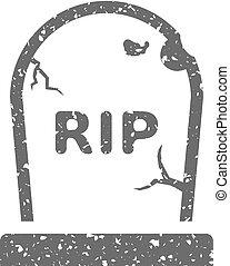 Grunge icon - Tomb stone