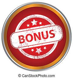 Grunge icon with the text bonus