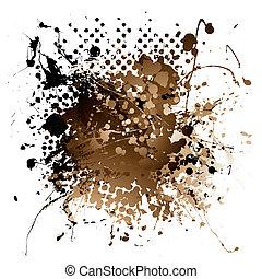 brown ink splat