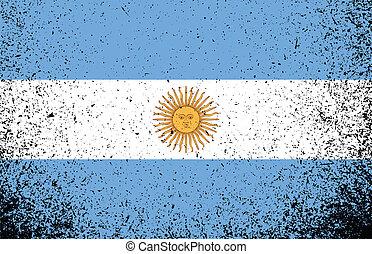 grunge, illustrazione, bandiera, disegno, argentina, bandiera