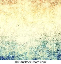 grunge, image., 空间, 正文, 纸, 背景, textured, 或者, d