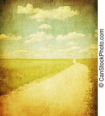 grunge image of contruside road