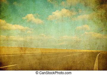 grunge image of highway