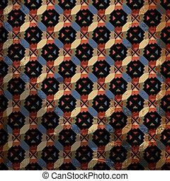 grunge, inca, vector, pattern., illustratie