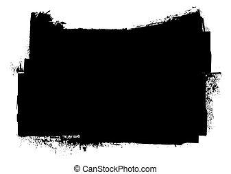 grunge, inchiostro, nero, splat, striscia