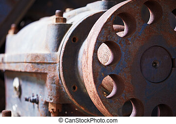 Grunge industrial engine failed - The grunge old big ...