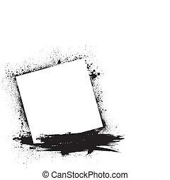 Grunge ink blots white