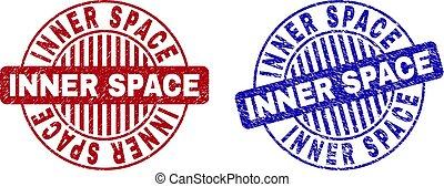 Grunge INNER SPACE Textured Round Stamp Seals