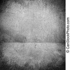 grunge, interior, con, copy-space