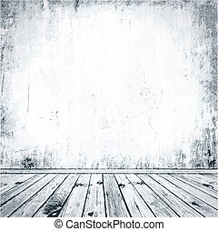 Grunge Interior - Illustration of Grunge Empty Interior in ...