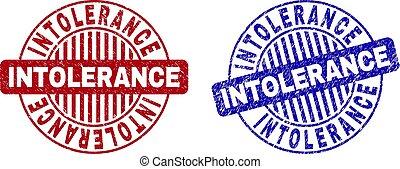 Grunge INTOLERANCE Textured Round Stamps