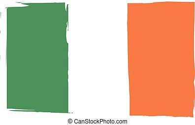 Grunge IRELAND flag or banner